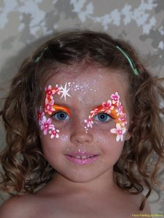 flower face paint   Flowers girls faces, Face painting for childerns parties Crawley