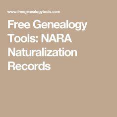 Free Genealogy Tools: NARA Naturalization Records