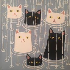 Cat Aesthetic, Funky Art, Cat Wallpaper, Cute Icons, Pretty Art, Cat Art, Cute Drawings, Art Sketches, Art Inspo