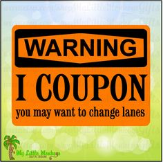 Warning Sign I Coupon Design Digital Clipart Instant Download Full Color Jpeg Png SVG EPS DXF Files - pinned by pin4etsy.com