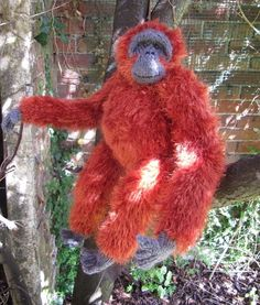 This is brilliant. Not sure if I'd have the patience to make him. My Pet Orangutan Toy Monkey knitting pattern pdf download £2.75