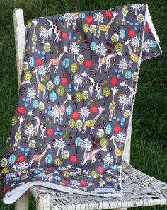 Girl or Boy  Chenille Baby Blanket  Giraffe by theposhpeaboutique, $40.00