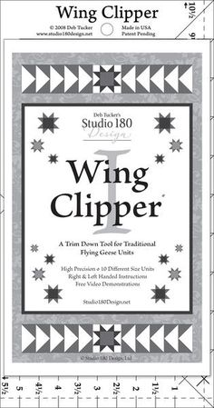 Wing Clipper ~ quilting ruler, trim-down tool for measuring traditional flying geese units Patchwork Vol D'oie, Flying Geese Quilt, Must Have Tools, Quilting Rulers, Foundation Piecing, Easy Quilts, Quilting Designs, Quilt Blocks, Cutaway