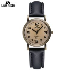 e5543bd4219 Liber Aedon Fashion Leather Women Watches Retro Classical Quartz Ladies  Wrist Watch Relogio Masculino Easy Read