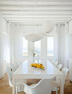 La salle à manger de la villa Orpheus