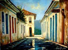casarios para pintura a oleo | Casario - Pintura, 40x30 cm ©2005 por Sandro José Da Silva - Arte ...