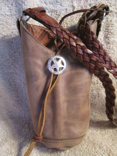 "Western Horn Bag JW Purse Handbag Tack ""Dan Post"" Brown Cowboy Boot Top 
