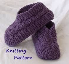 slippers knitted pattern - Google Search