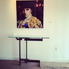 Juan Fernando Ayora's Bullfighter and Evan Lewis Talea Console are a great pair. Both at NIBA Home