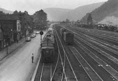 Renovo, PA, 1952  View of the Pennsylvania Railroad's Renovo Yards, September, 1952. Photo by Frank G. Zahn.