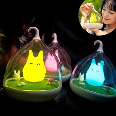 3 Romantic Colour LED Nightlight Lamp Touch Sensor Cute Light Home Decor Bedroom #1989_2019