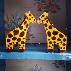 Kissing giraffes!