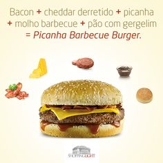 Arte de divulgação do lançamento do Picanha Barbecue Burger para a página no Facebook do Shopping Light.