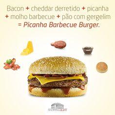 Arte de divulgação do lançamento do Picanha Barbecue Burger para a página no Facebook do Shopping Light.