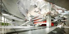 A runner-up to Zaha Hadid Architects' winning design for the new Changsha Meixihu International Culture & Art Centre, Coop Himmelb(l)au's design for the sam Architecture Magazines, Space Architecture, Futuristic Architecture, Changsha China, Zaha Hadid Architects, Himmelblau, Cultural Center, Sustainable Design, Modern Interior
