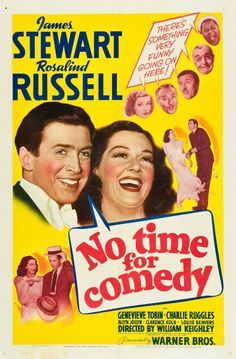 No Time for Comedy, 1940