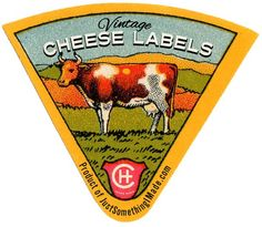 Vintage cheese labels and other pretty freebies over at Just Something I Made Vintage Advertisements, Vintage Ads, George Nelson, Thick Business Cards, Vintage Food Labels, Printable Labels, Printables, Labels Free, Free Printable