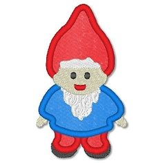 Gnome Boy Applique - 3 Sizes! | Spring | Machine Embroidery Designs | SWAKembroidery.com Lynnie Pinnie
