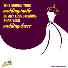 Why should your wedding invite be any less stunning than your wedding dress. #Letsannounce #wedding #weddinginvite