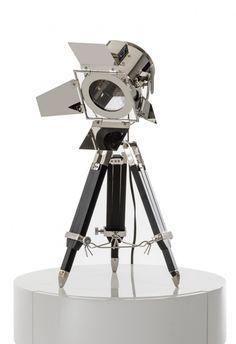 Modrest Avedon Chrome and Black Table Lamp VGKRKM015A