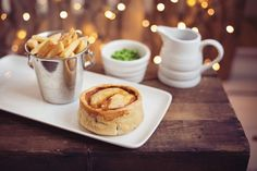 Mmm pie, chips, gravy and peas - pie of the day from the Brockhole café winter menu. Thanks to Tiree Dawson Photography for the photo.