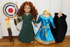 Custom Merida doll made from an American Girl doll