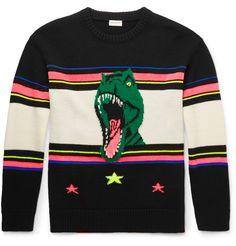 Dinosaur-Intarsia Wool-Blend Sweater | MR PORTER