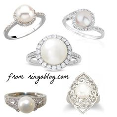 Pearl and diamond rings... yes please