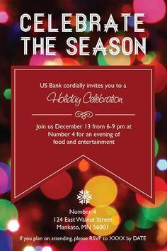 Holiday invitation design  Graphic Design by Ashley Schubert, via Behance