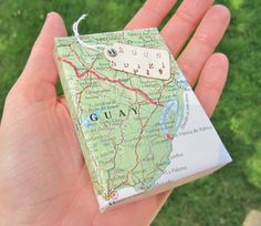 Gift Wrapping Jewelry Box Travel Theme Atlas Map Paper Wrapped. $3.50, via Etsy.