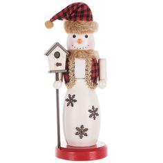 Wood Snowman Nutcracker With Birdhouse Christmas Pillow, Christmas Crafts, Christmas Ornaments, Christmas Ideas, Nutcracker Ornaments, Nutcracker Christmas, Hobby Lobby Coupon, Wood Snowman, Seasonal Decor