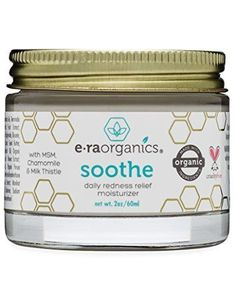 Soothe Redness Relief Cream (2oz.) Anti Inflammatory Natural Face Moisturizer Cream For Rosacea, Eczema, Acne, Dry, Sensitive Skin With Milk Thistle, MSM, Avocado Oil & Chamomile. by Era Organics, http://www.amazon.com/dp/B0774XYQ21/ref=cm_sw_r_pi_dp_U_x_83DjAb9NSW1AV