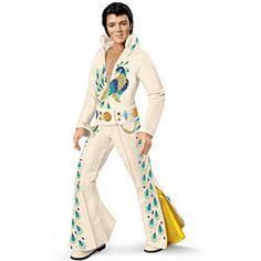 Elvis Presley In Jumpsuit Garden Gnome Nightclub Singer Statue