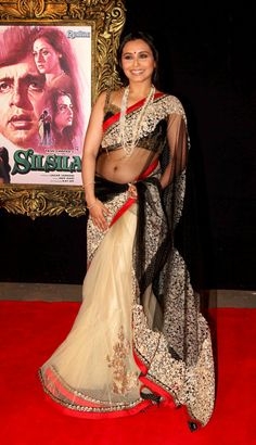 Awesome Collections of Bollywood Saree  Bollywood Saree by Istyldeal - Rani Mukherjee Bollywood Replica Saree,Click Here to Buy: http://www.artncraftemporio.com/bollywood-saree-by-istyldeal-rani-mukherjee-bollywood-replica-saree