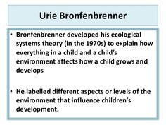 child development stages Urie Bronfenbrenner - Google Search