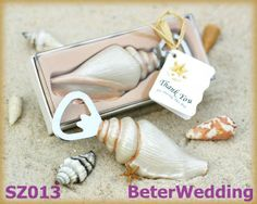 Beach wedding favors feature This Shore Memories sea shell bottle opener makes a unique favor for guests. The bottle opener may be used for any beach special event including birthday party favors, bridal showers favors and wedding favors, etc. Wedding Favors And Gifts, Beach Wedding Favors, Personalized Wedding Favors, Wedding Ideas, Beach Weddings, Seashell Wedding, Wedding Reception, Wedding Souvenir, Personalized Products