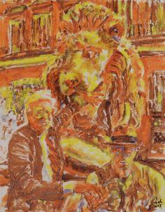 Andy Warhol & Joseph Beuys  (Portraits 1. Painters, scene 3), bachmors artist