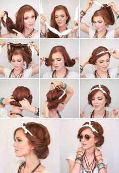 Cool Hippie-Frisur with Tuch Cool Hippie-Frisur with Tuch Cool Hippie-Frisur with Tuch The post Cool Hippie-Frisur with Tuch appeared first on 2019 FRİSUREN FRAUEN. Cool Hippie-Frisur with Tuch Hipster Hairstyles, Scarf Hairstyles, Cool Hairstyles, Hairstyles 2016, Bandana Hairstyles For Long Hair, Beautiful Hairstyles, 1940s Hairstyles, Casual Hairstyles, Wedding Hairstyles