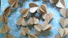 SALE Paper Garland FRENCH HEARTS Heart Garland by LaMiaCasa on Wanelo