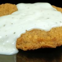 Copycat Cracker Barrel Chicken Fried Steak-for breakfast or dinner with top round steak tenderized (Top Round Meat) Bisquick Recipes, Egg Recipes, Chicken Recipes, Cooking Recipes, Dinner Recipes, Chicken Meals, Oven Cooking, Entree Recipes, Chicken