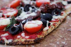 Bloemkoolpizza! #glutenvrij #vegetarisch #suikervrij