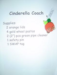 Cinderella Coach swap -   Yup, I made that!: Girl Scout Swap A Rama