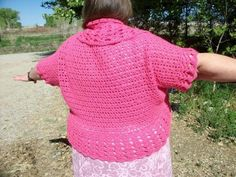 Crochet Sweater Shrug in Plus Sizes PDF.  Pattern can be purchased at Craftsy.com.  I am attempting my own adaptation.
