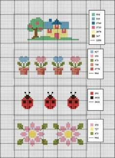Sunshine Home Decor: Baby-Bettwäscheset Cross Stitch Boarders, Cactus Cross Stitch, Tiny Cross Stitch, Cross Stitch Cards, Cross Stitch Flowers, Cross Stitch Designs, Cross Stitching, Cross Stitch Embroidery, Embroidery Patterns