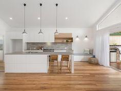 modern kitchen interior 140 St James Road, New Lambton NSW Image 0 - Kitchen Room Design, Modern Kitchen Design, Kitchen Layout, Home Decor Kitchen, Interior Design Kitchen, Home Kitchens, Kitchen Ideas, Kitchen Inspiration, Modern Kitchen Interiors