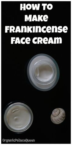 DIY frankincense face cream recipe #FaceCreamForWrinkles