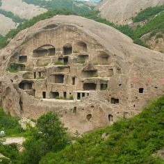 The caves homes of Guyaju (Guyaju meaning, ancient cliff dwelling) are about 90km northwest of Beijing, China.