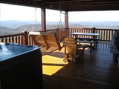 Cabin vacation rental in West Jefferson from VRBO.com! Staying at her other cabin. This one's booked. Hot tub on the porch. :)