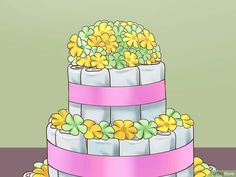The Best Ways to Make a Diaper Cake - wikiHow