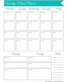 30 Days of Free Printables: Weekly Meal Planner Worksheet 30 Days of Free Printables: Weekly Meal Planner Worksheet Brooklyn Tolbert brooklyntolbert Healthy 30 Days of Free Printables: Weekly Meal Planner Worksheet via Jana Seitzer @ Whisky + Sunshine Meal Prep Plan, Budget Meal Planning, Food Budget, Budget Recipes, Meal Planner Template, Meal Planner Printable, Menu Templates, The Plan, How To Plan